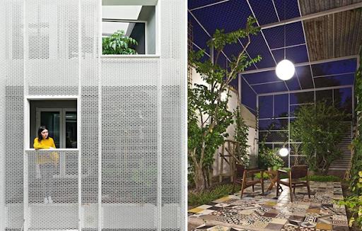 Tấm inox dập lỗ dùng trong xây dựng và trang trí nhà cửa