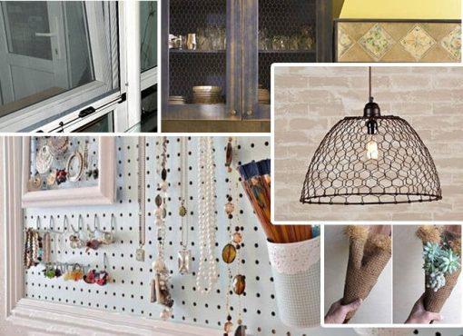 Lưới sàng có thể dùng làm đồ trang trí trong gia đình