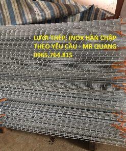 Tấm lưới thép, Inox hàn chập theo yêu cầu